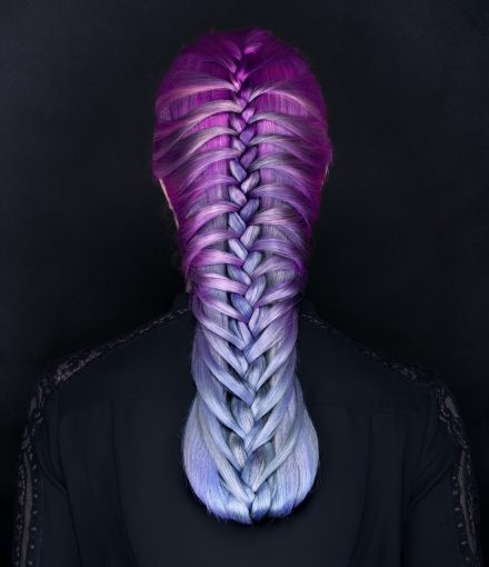 Skyler colourful master hair purple braids