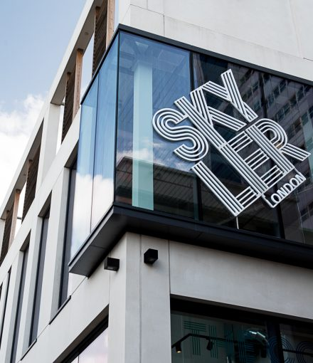 Skyler London store sign