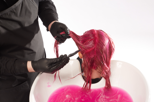 Achieving the perfect pink hair
